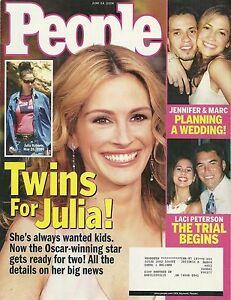 People Magazine June 14 2004 Julia Roberts Jennifer Lopez Laci Peterson