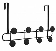 Umbra YOOK Over the Door 8 HOOK Wall Coat Rack METAL 2in1 - BLACK