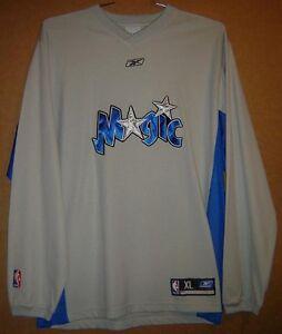 ORLANDO MAGIC Gray Size XL NBA PULLOVER Reebok SHOOTING SHIRT