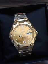 Seiko 5 Sports Mens Automatic Gold-Plated Gold-Dial Watch 23 Jewels SNZ460J1