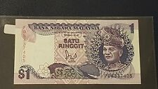 CCY- FD RM1 Jaafar First Prefix Malaysia Rare BANKNOTE,UNC,NR((CLEARANCE))