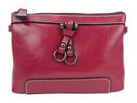 Ella Jonte Tasche schwarz gelb oder pink kleine Handtasche Clutch Lederimitat
