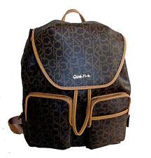 Calvin Klein Monogram Backpack Dark Brown/Khaki/Camel Laptop Sleeve