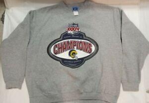 Vintage SPL 28 St. Louis Rams Crewneck Super Bowl XXXIV Size XL EUC