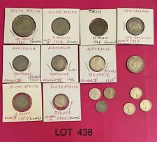 Foreign Silver Coins, Lot of 16, Lot #438, New Zealand, Australia,S. Africa-G-XF