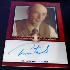 Iron Man 1 Movie Cards - Rittenhouse Autograph Signed by Shaun Toub as Vinsen