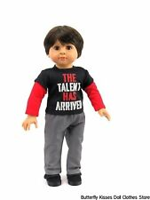 Talent T Shirt+ Pants 18 in Doll Clothes Fits American Girl Boy Doll Logan