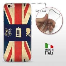 iPhone 6 6S TPU CASE COVER PROTETTIVA GEL TRASPARENTE VINTAGE Bandiera Inglese