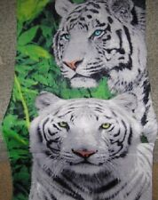 New White Bengal Jungle Pair of Tigers Bath Pool Beach Towel Gift Big Wild Cats