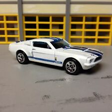 1/64  1967 Ford Mustang Shelby GT 500 in Pearl White/Pearl Blue Stripe