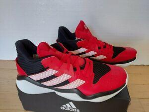 NEW* Adidas James Harden Stepback Size 9 Red White Black EG2768 Nets Rockets NBA
