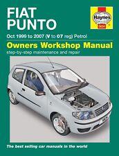H5634 Fiat Punto petrol (Oct 1999 to 2007) Haynes Repair Manual