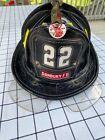 Vintage Leather 1986 Cairns N5A Fire Helmet With Eye Shield~Danbury FD~Medium