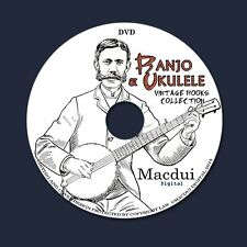 Banjo & Ukulele Vintage e-Books 28 PDF on 1 DVD Kamiki Ukulele Music Instruments