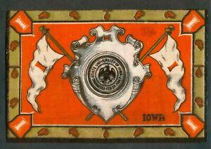 1908 BOXING Tobacco Felt ANTIQUE B16 T1 University IOWA School SHIELD