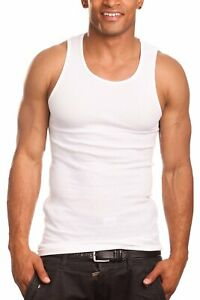 [PRO 5] Men 100% Premium Cotton Tank Top Muscle Wife Beater Undershirt S~5XL 1PC