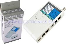 Remote Cable Tester for USB RJ45 RJ11 COAX BNC Network LAN Coax Telephone Wire