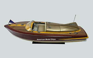 "Chris Craft Cobra Speed Boat Model 28"" Handcrafted Wooden Model NEW"