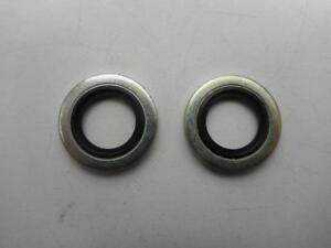 Dowty Washer Seals x 2 Petrol Tap, Oil Feed & Return Banjo, Self Centre Type