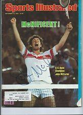 JOHN McENROE  Signed SPORTS ILLUSTRATED Mag SI 9/15/1980