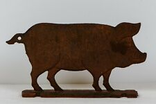 Vintage Cast Iron Pig for Advertising