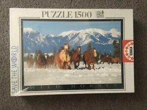 Wild Horses - Save the World Series - EDUCA Jigsaw 1500 pieces * SEALED **SALE**