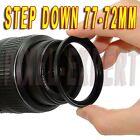 ANELLO ADATTATORE STEP-DOWN 77-72MM RING ADAPTER OBIETTIVO RING 77-72