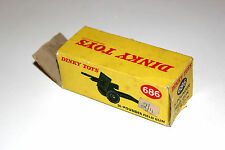 Dinky Toys Military 25 Pounder Field Gun Original Box Only # 686 !!