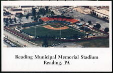 READING PA Municipal Memorial Class AA Eastern League Baseball Stadium Postcard