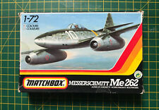 Vintage Matchbox 1/72 Messerschmitt Me262 Model Kit PK 21 Sealed 2 Colour 1986