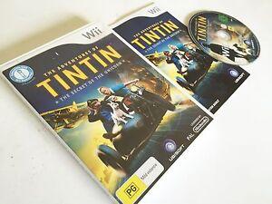 THE ADVENTURES OF TINTIN THE SECRET OF THE UNICORN NINTENDO Wii