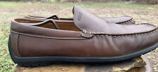 ECCO Classic Driving Moc Loafer Men's Size 13 EU 47 Extra Width Brown