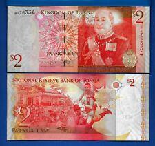 TONGA: $ 2 Pa'anga Year ND 2008 Rugby Uncirculated Banknote