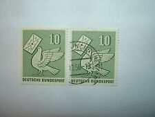 1956 WEST GERMANY 10pf STAMP DAY STAMPS x 2 MINT HINGED/VFU (sg1173) CV £4