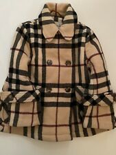 Burberry Wollmantel Mantel Jacke Poncho Wolle  gr 4 104 Check Top Mädchen