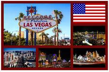 LAS VEGAS, USA - SOUVENIR NOVELTY FRIDGE MAGNET / SIGHTS / FLAGS / NEW / GIFTS