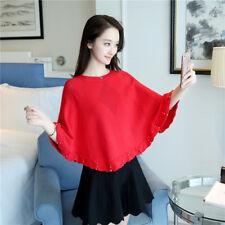 Otoño Moda Coreana Suelto Bat Manga uñas grano chales Tejer Suéter Capa