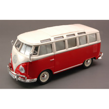 VW T2 VAN SAMBA 1962 RED WITH WHITE ROOF 1:25 Maisto Auto Stradali Die Cast