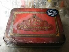 125th Anniversary Budweiser Beer 2 Deck Playing Card Set (1991) in Tin New