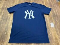 New York Yankees Men's Blue MLB Baseball T-Shirt - Clor - Large