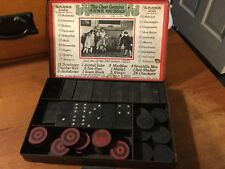 Antique THE PLAYBOX Checkers dominoes 1925 metal box extremely rare estate piece