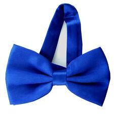 New Plain Pre-Tied Satin Bow tie - Various Colours