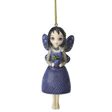 Jasmine Becket Griffith Fairy Ornament Bella Donna'S Gift Blueberry Purple Fruit