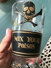 "Vtg George Briard ""Mix Your Poison� 5 1/2"" Tumbler"