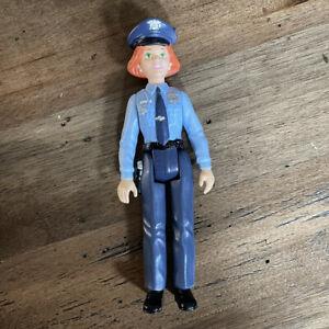 Playskool Dollhouse RED-HEAD POLICE WOMAN LADY WOMAN MOM COP POLICEWOMAN Helper