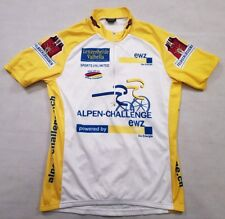 """Unisex Leveco Cycling Jersey Size XL 42"""" Allen Challenge Racing Shirt Yellow"""