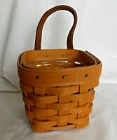 Longaberger 1998 Chives Booking hanging basket with insert MINT pre-owned