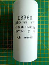 100mfd Condensatore Motore Avvio 100uf 450VAC con connessioni TAG