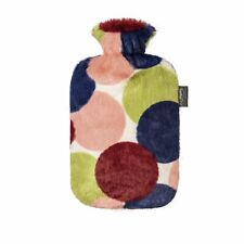 Fashy Hot Water Bottle With Plush Cover 2 Litre Thermoplastic Spots 67320