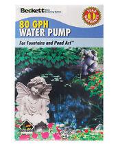 Beckett Plastic Pond and Fountain Pump 1 in. W x L 80 gph